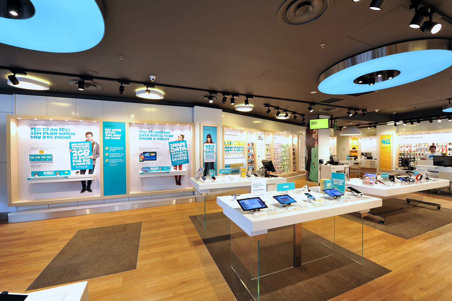 Optus Store Lighting Project