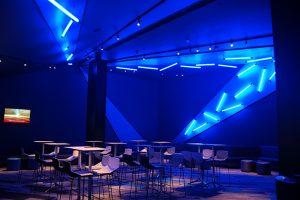 image of stunning illuminated LED tube feature pieces used in cinema lighting