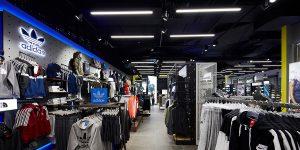 lighting design in sports store