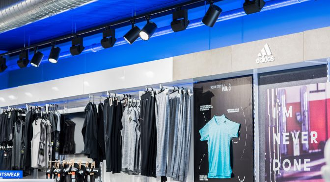 Sports retail lighting design and supply