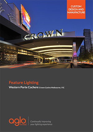 image brochure for crown melbourne porte cochere case study