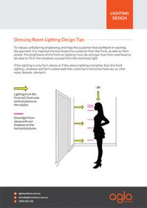 image brochure for dressing room lighting design