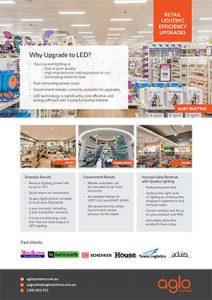 image brochure for lighting upgrades flier retail