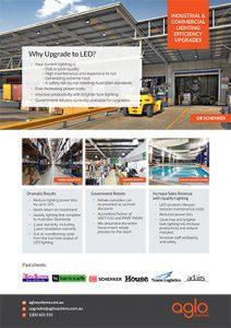 image brochure for lighting upgrades flier warehouse