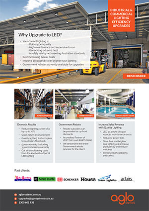 image brochure for lighting upgrades flier warehouse