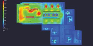 image of heatmap used in lighting design model