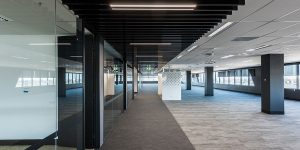 image of office commercial lighting corridor