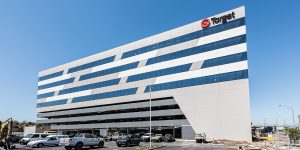 image of target building where commercial office lighting upgrade occured