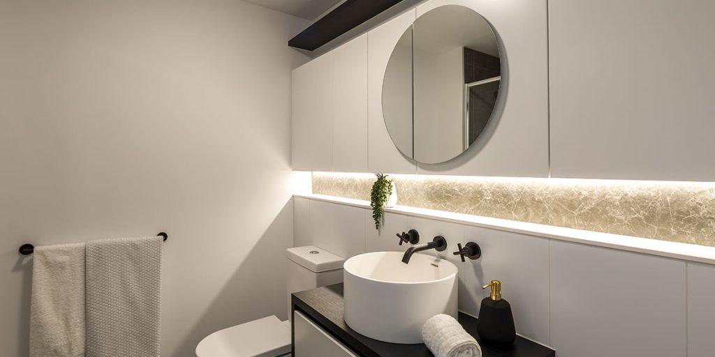 image of strip lighting used in bathroom